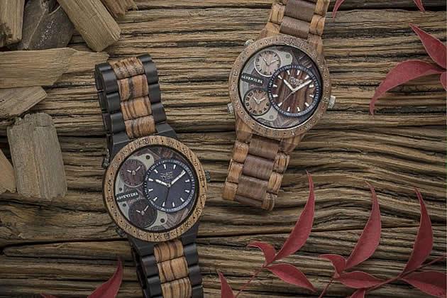 Orologi, occhiali e bracciali in legno prodotti da ZZero - Monfalcone